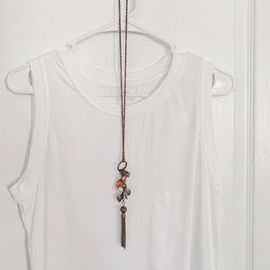 💙3/$12 Forever 21 Long Gold Vintage Necklace